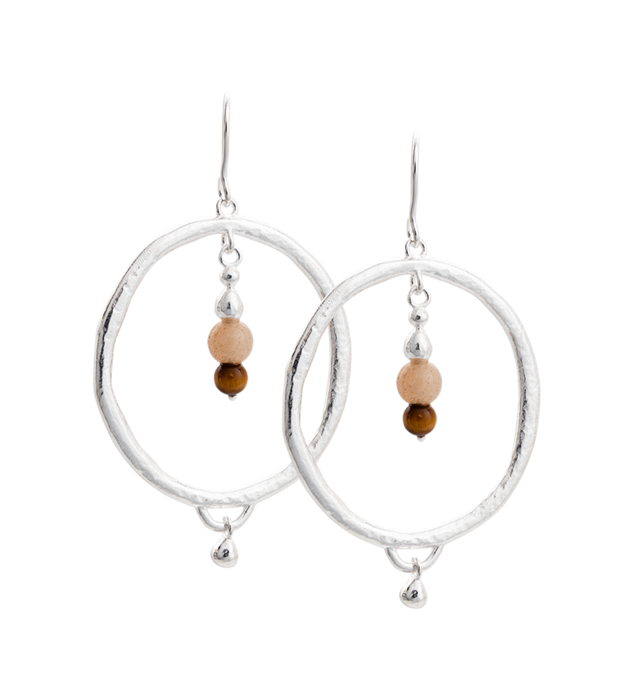 Artisan Hoop Earrings Sterling Silver