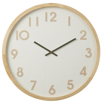 Leonard Wall Clock 60cm - Natural