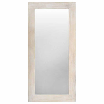 Rectangle Natural Wood Flat Rim Mirror