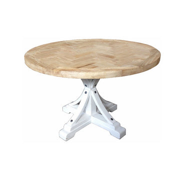 Brussels Round Dining Table White Legs
