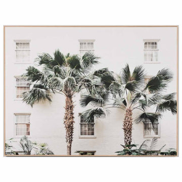Palm Resort Framed Canvas - 2 Sizes