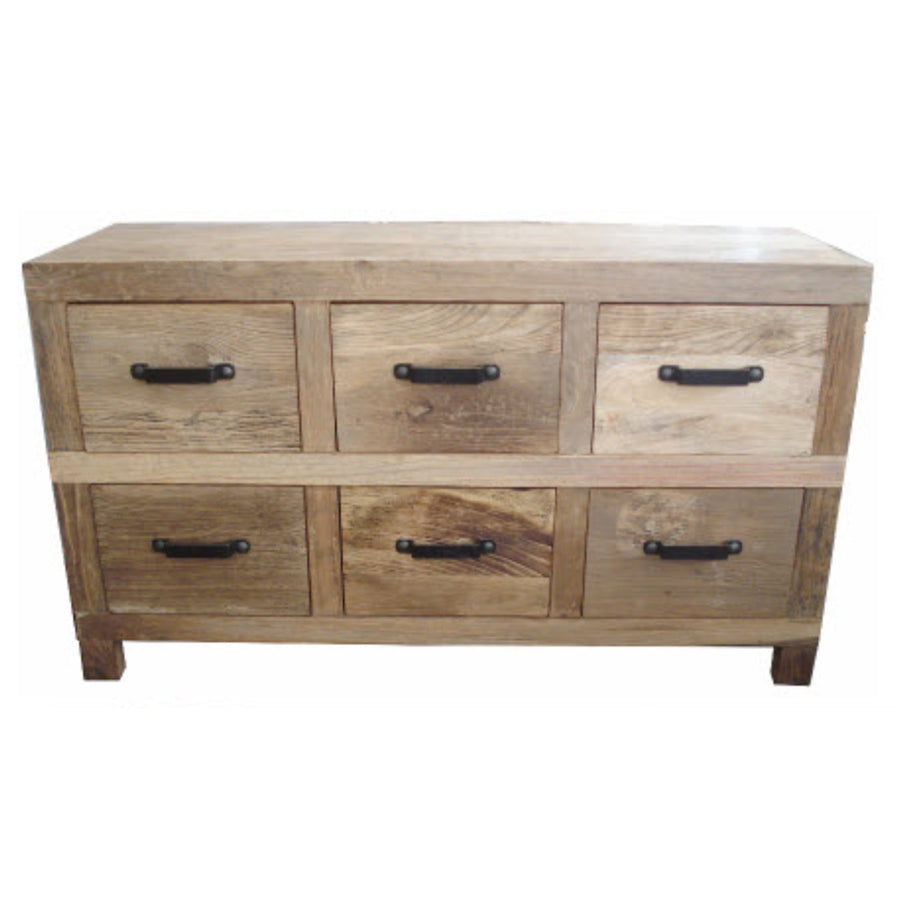 Leura 6 Drawer Low Sideboard