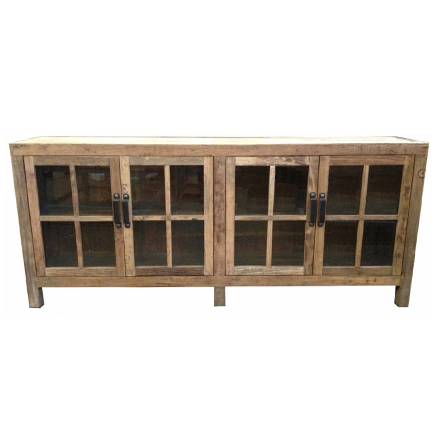 Leura Elm Glass Door Cabinet - 2 Sizes