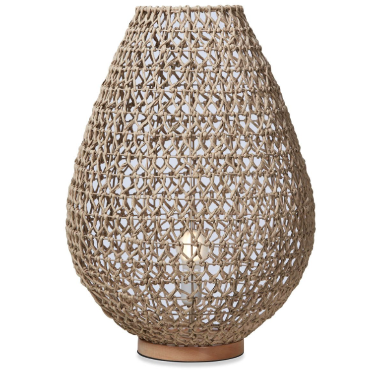 Capri Natural Woven Table Lamp - Large
