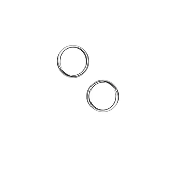 Open Circle Silver Studs