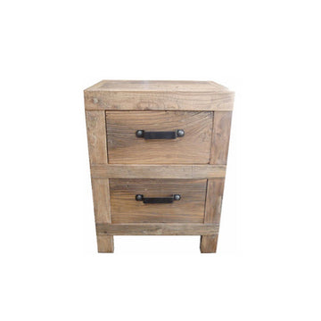 Industrial 2 x Drawer Bedside