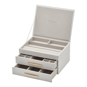 Stacey White Large Jewellery Box