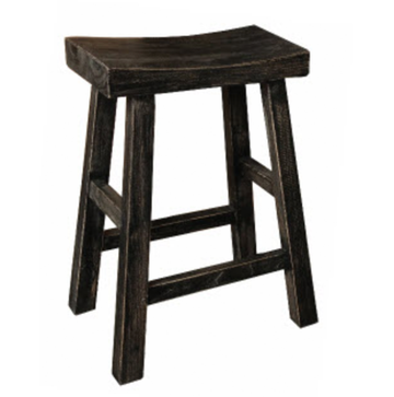 Shanghai Stool Black