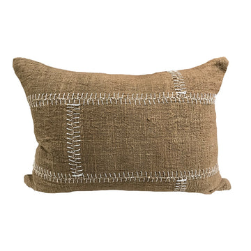 Stitch Cushion Olive