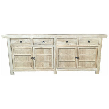 Chinese Antique 4 Door, 4 Drawer Sideboard