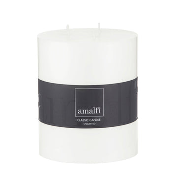 3 Wick Candle 12.5x15cm Wh