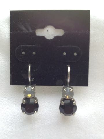 Opal & Black Onyx Two-Stone Drop Earring