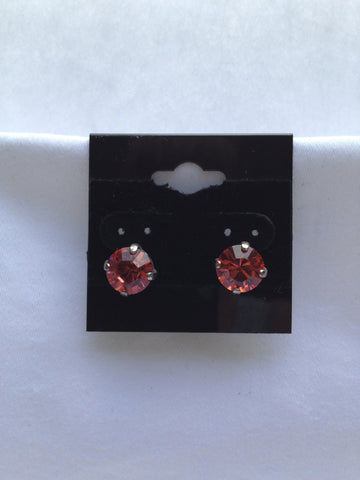 Burnt Orange Crystal Stud Earring