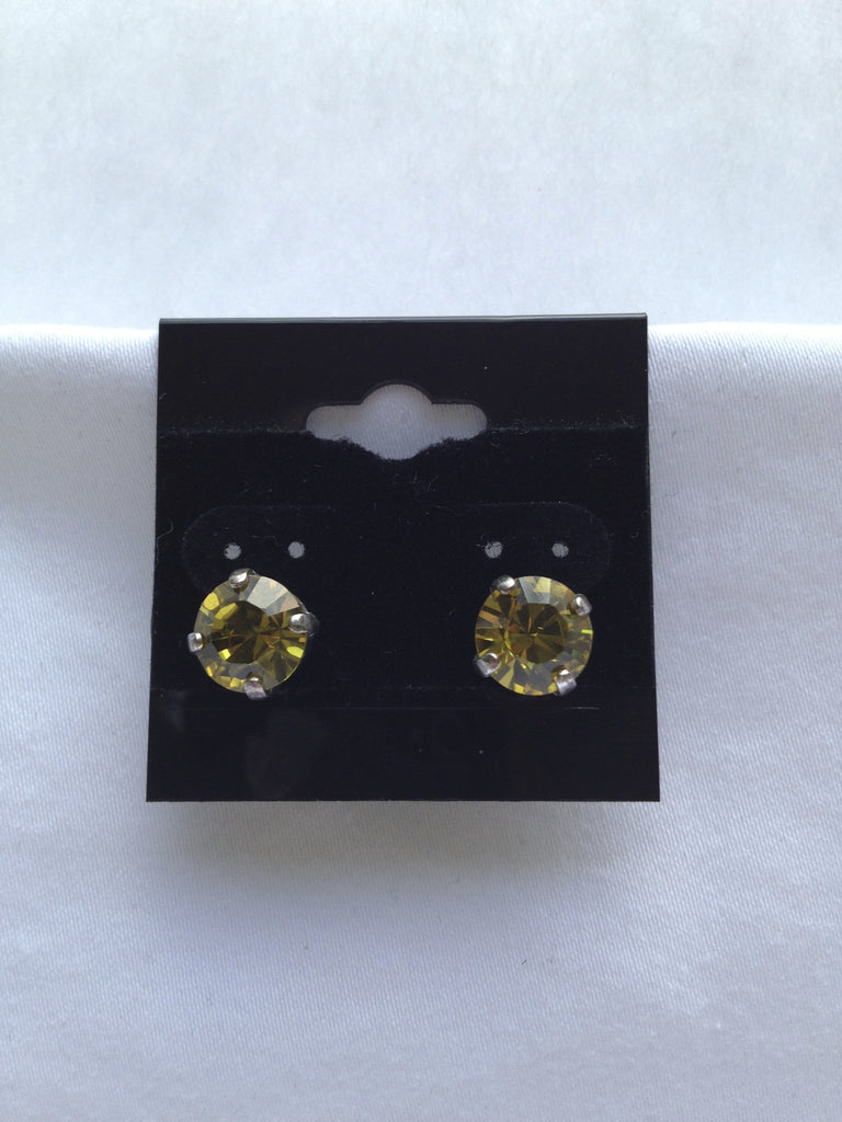 Canary Yellow Crystal Stud Earring