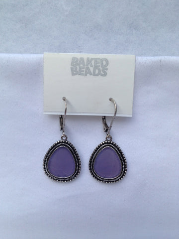 Lavender Triangle Earrings