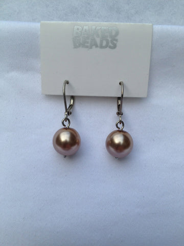 Rose Pearl Drop Earrings
