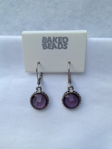 Lavender Round Earrings