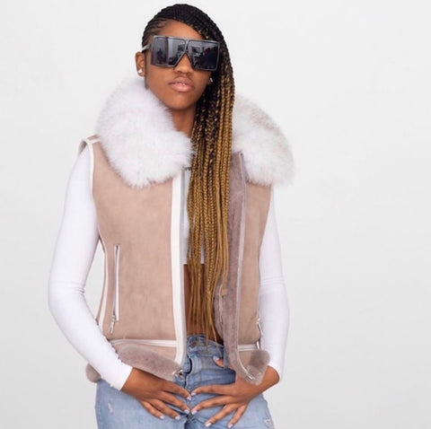 Women's Shearling Vest