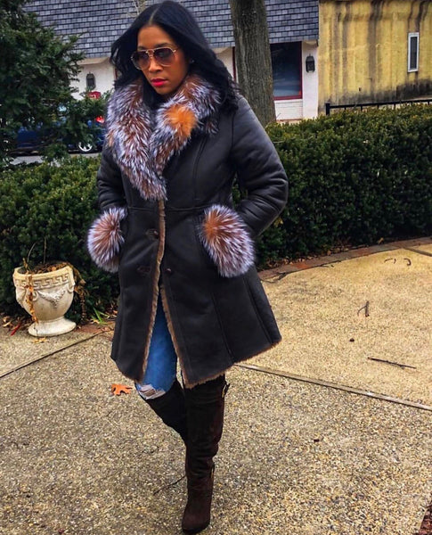 Women's Shearling Trench