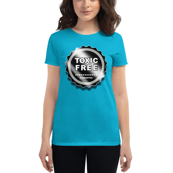 "Women's short sleeve ""Toxic Free"" t-shirt"