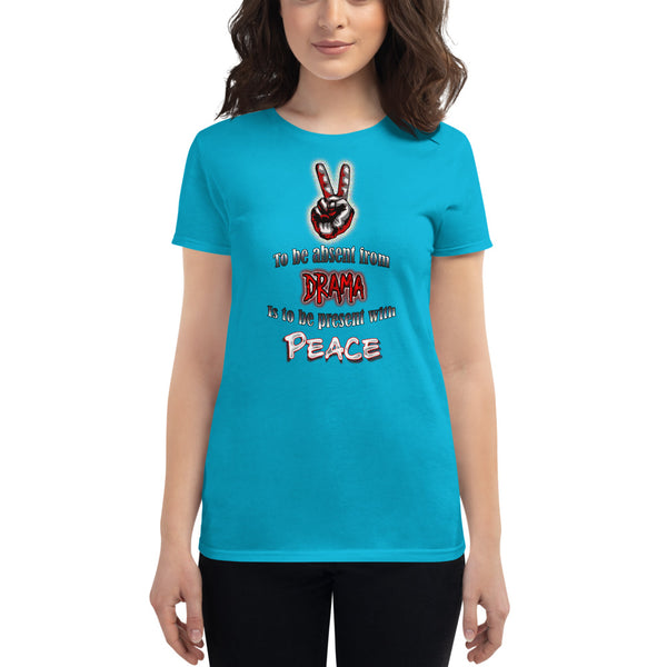 Women's Be Present with Peace short sleeve t-shirt