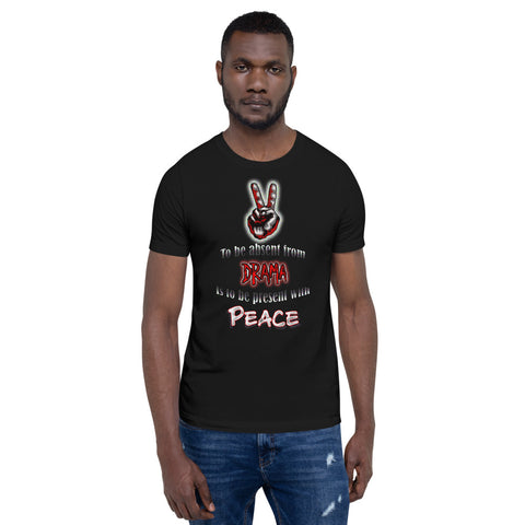 "Unisex ""Be Present with Peace"" short-Sleeve T-Shirt"