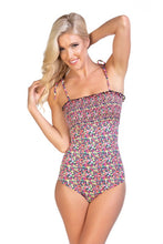 Load image into Gallery viewer, women's one piece floral swimsuit
