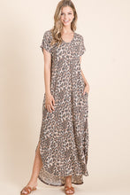 Load image into Gallery viewer, Animal Print Maxi Dress