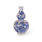 Blue and White Porcelain Double Gourd Vase