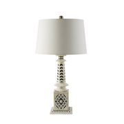 Bone and Ebony Lamp