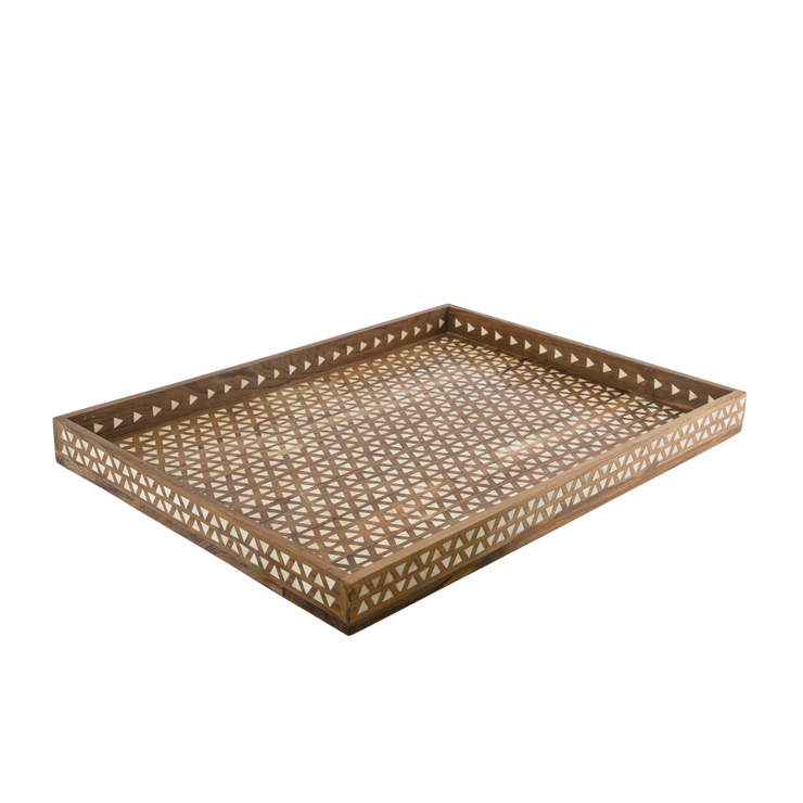 Bone Inlay Triangle Tray