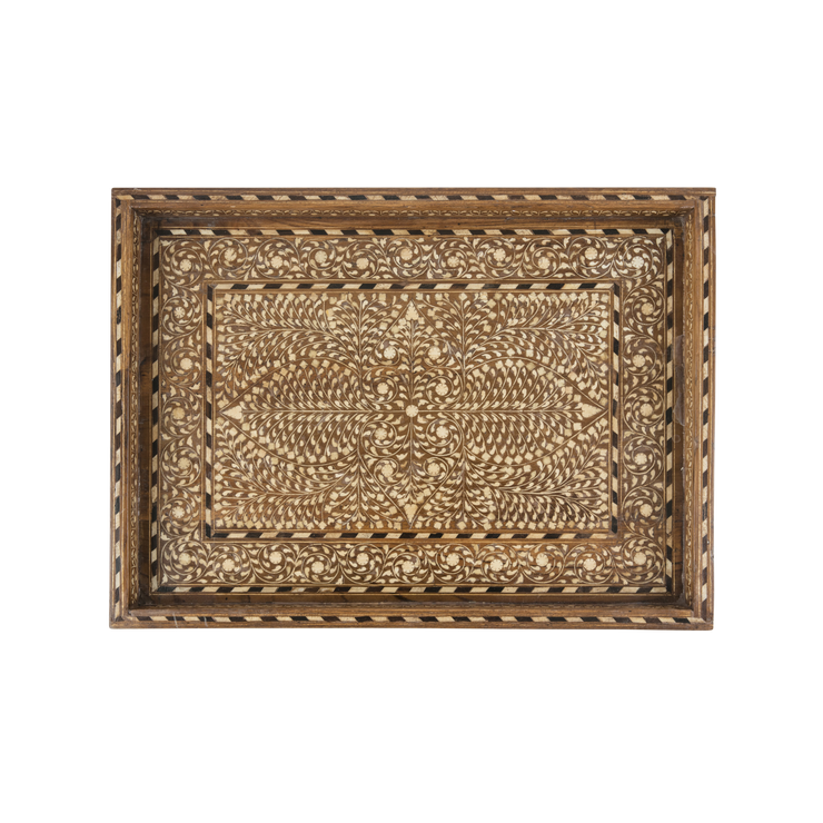 Bone Inlay Medallion Tray