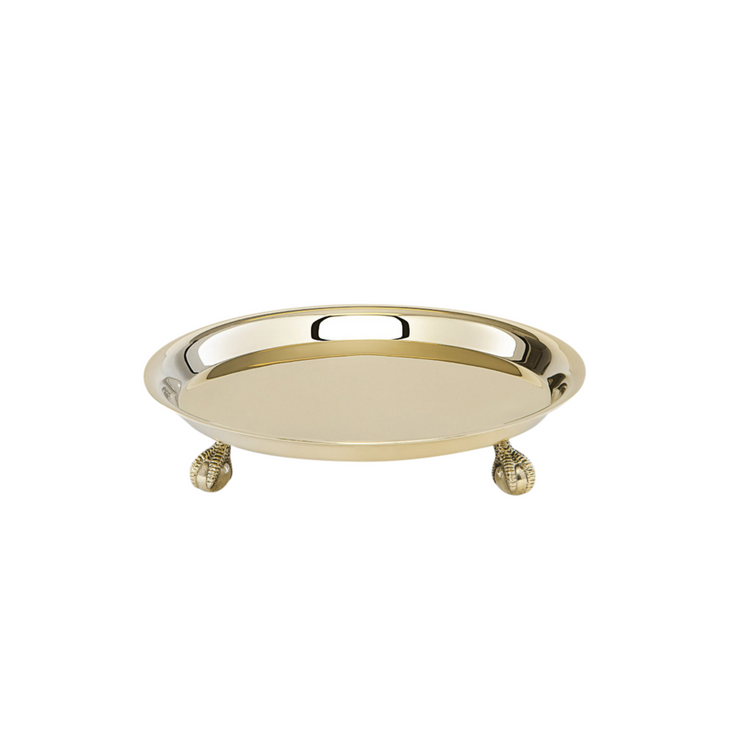 Brass Footed Tray