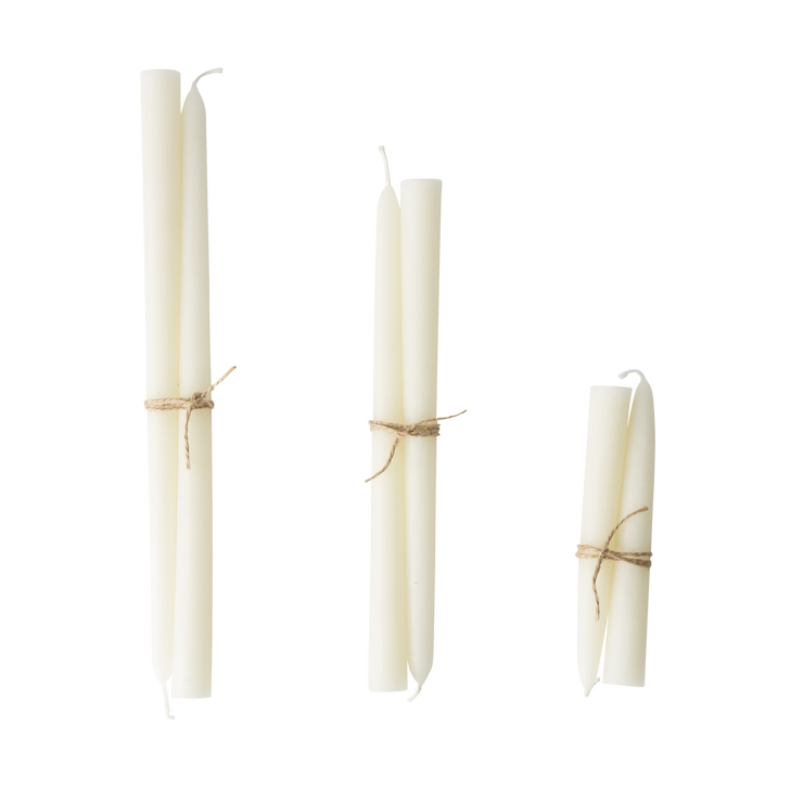 Pair of Ivory Taper Candles