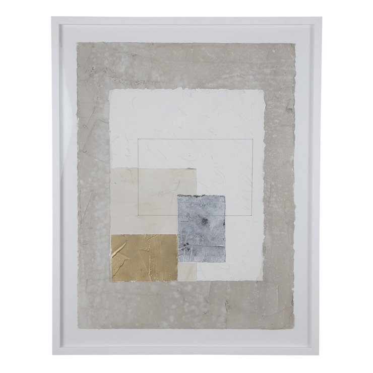 """Gold and Silver Triptych, 3"" by Jane Timberlake Cooper"