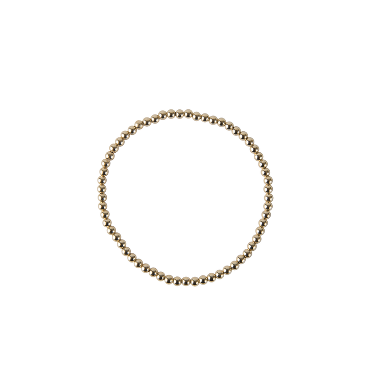 Gold Beaded Bracelet - 3 MM