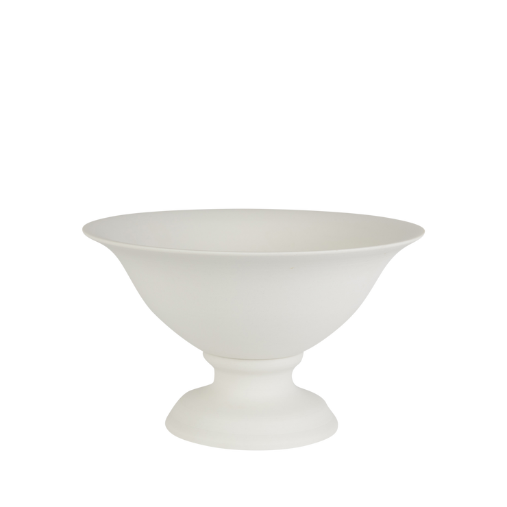 Matte Porcelain Footed Bowl