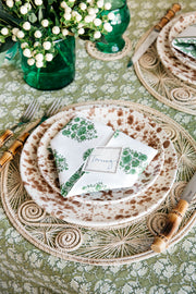 Riya Green Blockprint Napkins, Set of 4