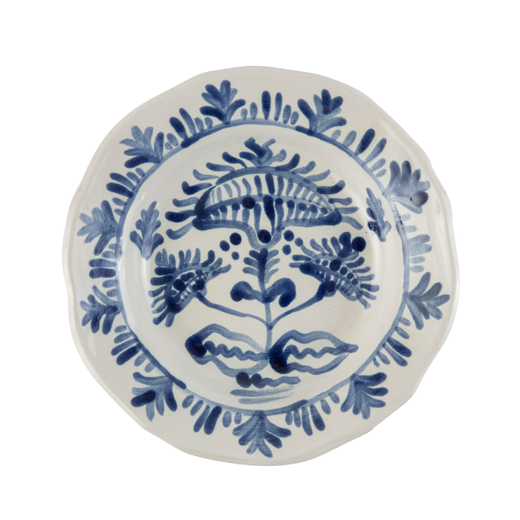 Zsuzsanna Blue and White Mughal Shallow Bowl