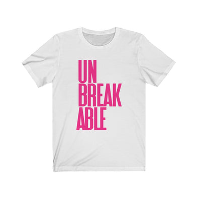 Pink Unbreakable White Short Sleeve Tee