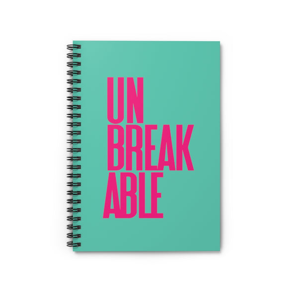 Pink Unbreakable Green Spiral Notebook - Ruled Line