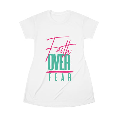 Faith Over Fear T-Shirt Dress