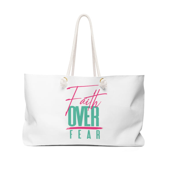 Faith Over Fear Weekender Bag