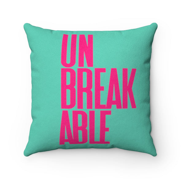UNBREAKABLE Faux Suede Square Pillow Case