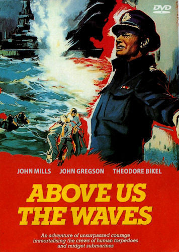 Above Us the Waves DVD 1955 John Mills John Gregson Theodore Bikel Donald Sinden WWII