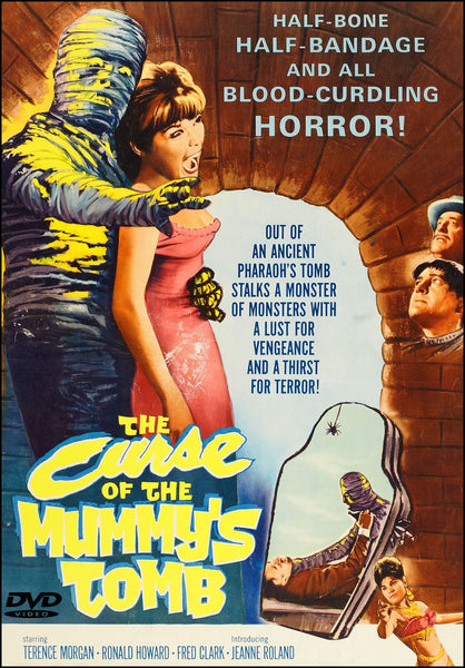 The Curse of the Mummy's Tomb 1964 DVD Terence Morgan Ronald Howard Fred Clark Jack Gwillim