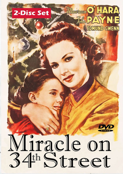 Miracle on 34th Street 1947 COLORIZED and B&W DVD Maureen O'Hara John Payne Edmund Gwen Natalie Wood