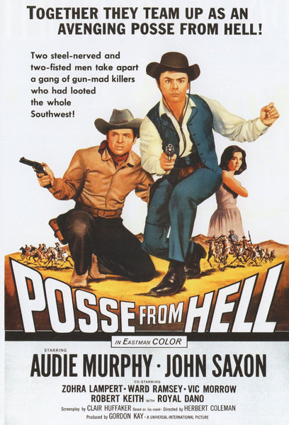 Posse from Hell 1961 Audie Murphy John Saxon Zohra Lampert Vic Morrow DVD Widescreen re-mastered