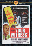 Your Witness 1950 DVD Robert Montgomery Leslie Banks Patricia Wayne Region One DVD
