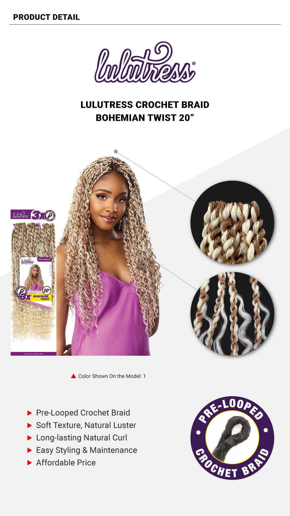 Sensationnel-Lulutress-Crochet-Braid-3X-Bohemian-Twist-20""